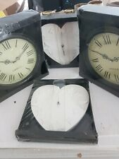 Wall clocks. Four in original packaging. Battery operated.