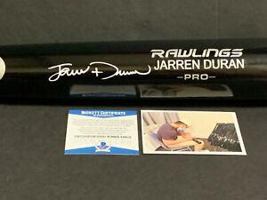 Jarren Duran Red Sox Autographed Signed Engraved Black Bat BECKETT ROOKIE COA .