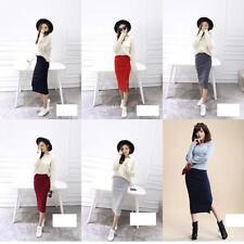 Sexy Office Skirt Women Bodycon Slim Skirt Formal Both Side Slit Pencil Skirt B