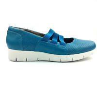 CLARKS ARTISAN Womens Slip-On Comfort Walking Athletic Shoes Size 8.5M Teal Blue