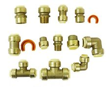 14 Piece Push-to-Connect Brass Assorted Fittings Contractor Push Fit Kit 1/2