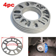 4Pcs 5mm Car Alloy Wheel Spacers/Shims Universal Fit Most 4/5 Stud Wheels