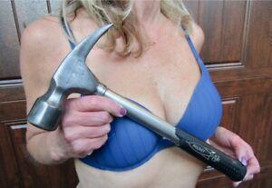 """NICE RARE Vintage True Temper Rocket Straight Claw Framing Hammer - A20R - 14"""" L"""
