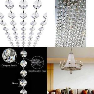 Crystal Acrylic Gems Bead Garland Strands, Kinhom 16 Feet Hanging Clear 14Mm Dai