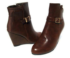 New Women's Fashion Boots Brown Wedge Shoes Winter Snow Ladies size 10