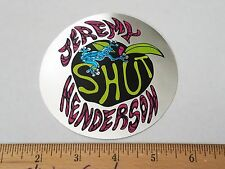 VTG 80's SHUT NYC NEW YORK JEREMY HENDERSON FOIL ZOO YORK NOS SKATEBOARD STICKER