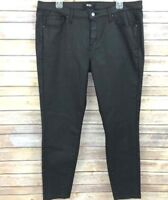 Mossimo Womens Jeans Skinny Super Stretch Black Denim Size 16 R / 33 Mid Rise