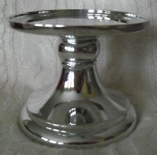 Bath & Body Works Mirrored Silver Pedestal 3-Wick Candle Holder