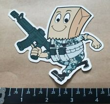 Magpul OEM Bag Man With Gun Stickers/Decal Tactical AR AK Hunting Shot Show