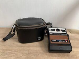 VINTAGE Kodak EK100 Instant Camera with Strap & Leather Kodak Carry Case