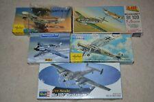 1/72 LOT: HELLER Bf-109 s & FIESELER STORCH, JO-HAN Bf 109F or G, REVELL Me 110