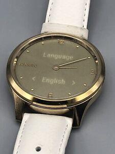 Garmin vivomove Luxe Hybrid Smartwatch 24K Gold PVD Stainless Steel Case (White)
