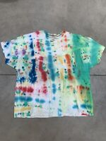 Custom Tie dye T shirt Size 4XL Shortsleeve