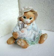 Enesco Calico Kittens Figurine Love Is The Heart of Friendship #623482 1993 Tan