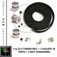 5m T2.5 Timing Belt with 3 Pulleys 16 teeth & grubscrews - RepRap - 3D printer