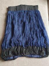 GIAMBATTISTA VALLI navy/black  silk ruffle skirt S