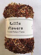 Crystal Palace Yarns Little Flowers #0436 Chocolate & Almonds Metallic Mini Flag