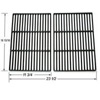 """Brinkmann Gas Grill Cast Coated Set Cooking Grates 33 3//16/"""" x 17 5//8/""""  69594"""