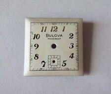 VINTAGE MEN'S BULOVA SQUARE WRIST WATCH DIAL FACE  23.2 mm NOS