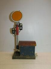 altes Märklin Blech EM-Vorsignal 13745 mit Wellblechbude Spur 1
