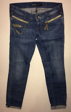 Miss Sixty Blue Hipster Jean Style Radio Size 26 L30 Skinny Stretch Chain Pocket