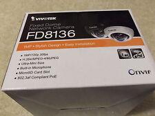 White Vivotek FD8136 Network IP POE Security Surveillance Megapixel Cam Camera