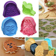 4Pcs  Fondant Cake Plunger Cutter Decor Pastry Cookie Mold Tool For Star Wars AA