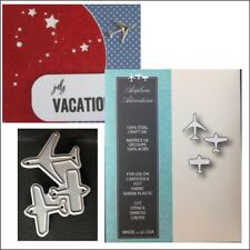 Airplane Adventures metal die Memory Box cutting dies 99389 plane travel jet