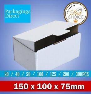 Mailing Box 150 x 100 x 75mm White Diecut Shipping Cardboard Carton
