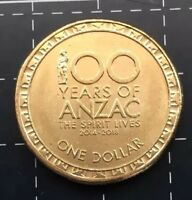 2018 AUSTRALIAN $1 COIN 100 YEARS OF ANZAC - THE SPIRIT LIVES ON