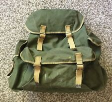 Vtg 50's Korea War Army Military Rucksack Field Pack Backpack Bag by C.P. LTD