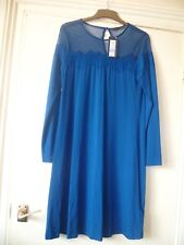 M & S COLLECTION BLUE KNEE LENGTH DRESS,UK 8/EU 36,BRAND NEW WITH TAGS