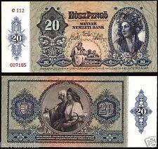 Hungary 20 Pengo 1941 P#109 paper banknote Ungarn UNC