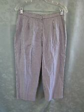 Vtg 90's Nwt High Waist Plaid Capri Pants Size 8 Stretch Cotton Pedal Pusher