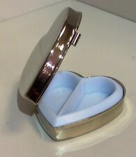 Silver Plate Heart Pill Box Free Engraving