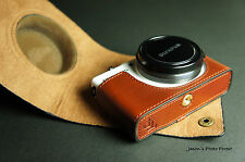 Handmade Genuine real Leather Full Camera Case bag Cover for Olympus XZ1 XZ-1