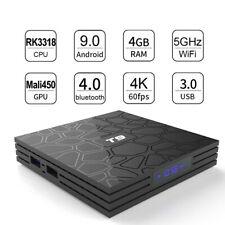 4K 4G+64G Android 9.0 Smart TV Box QUAD CORE WIFI USB3.0 Media Player 3D BLU-RAY