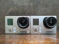 LOT OF 2 GOPRO HERO 3 MODEL CHDHE-301 1080P DIGITAL ACTION CAMERA PRE-OWNED