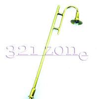 10 Stk. Park Lampen Laternen Spur H0 Kupferne Modell Straßenlaterne 1:87 12V