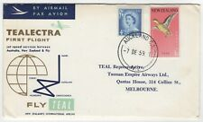 1959 7th Dec. Tealectra (TEAL)  First Flight. Auckland to Melbourne.