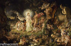 Sir Joseph Noel Paton - The Quarrel of Oberon and Titania Giclee Canvas Print