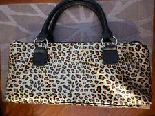 Leopard Print Insulated Wine Bottle Holder Clutch Bag & Corkscrew.