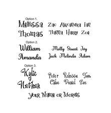 Custom Personalised Name Wall Art Vinyl Sticker Decal 3 Options Black (#247)