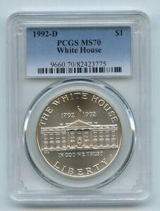1992 D $1 White House Silver Commemorative Dollar PCGS MS70