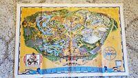 1975 DISNEYLAND MAP Park Fun Wall ~45 x 30 Disney AMERICA ON PARADE Guide Poster