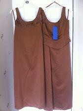2 Hilary Morgan Bridesmaid Dresses Beautiful Autumn Bronze Size 10 & 12