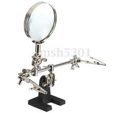 Third Hand Soldering Solder Iron Stand Holder Station Magnifier Helping Tool Kit