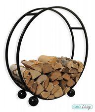 """NEW Log Rack Holder Firewood Rack Carrier Basket Wood Fire Fireplace """"Vienna"""""""