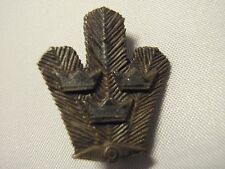 Swedish Military WW2 Land navigation award pin 2nd level  Sterling 925 silver