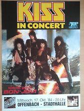 KISS 1984 Francoforte + ORIG. concert poster-manifesto concerto a1